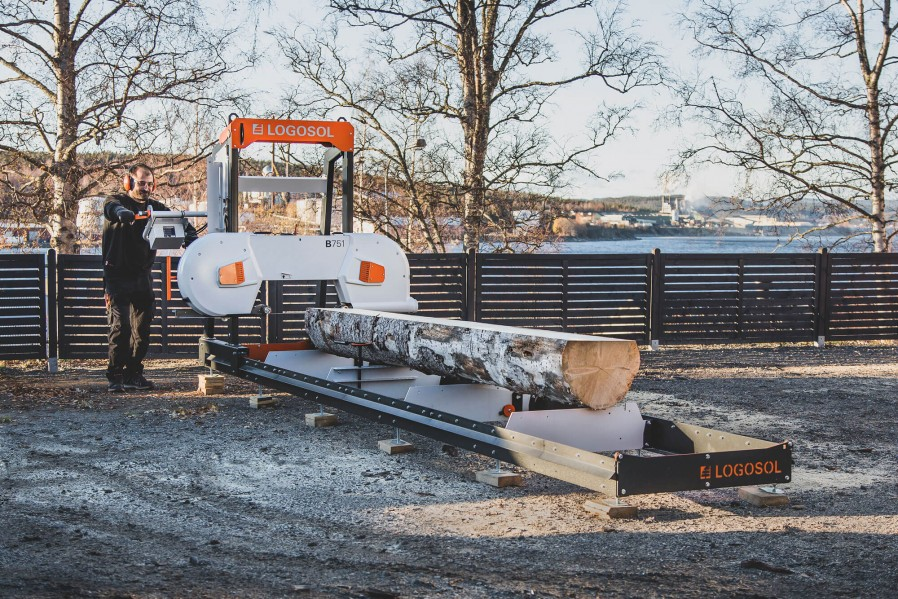 B751 Band Sawmill with 8 kW Electric Motor