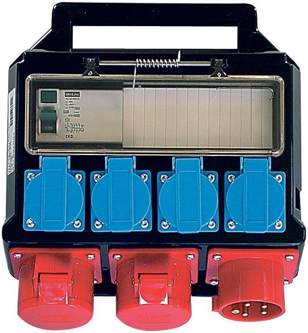 Portable Power Outlet, 2 x 400V/16A, 4 x 230V/16A