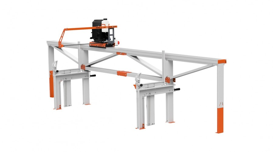F2 Chain Sawmill (4 m) with ES5, basic crank feeding