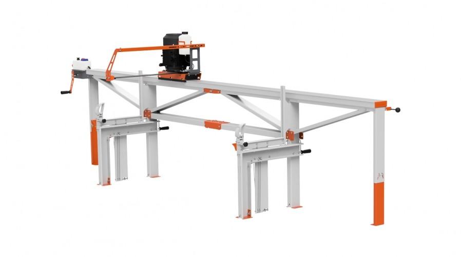 F2 Chain Sawmill (4 m) with ES5, manual remote feeding