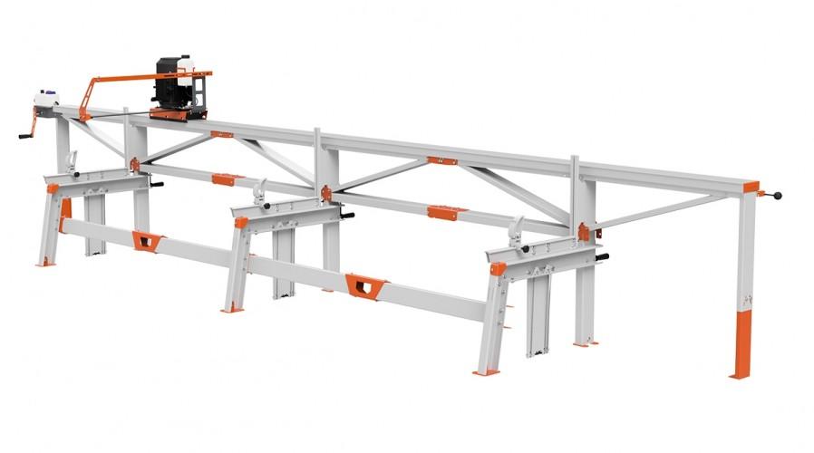 F2+ Chain Sawmill (6 m) with ES8, manual remote feeding