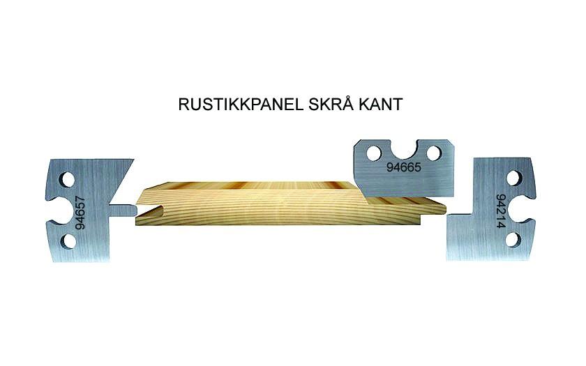 Rustic panel, chamfered edge