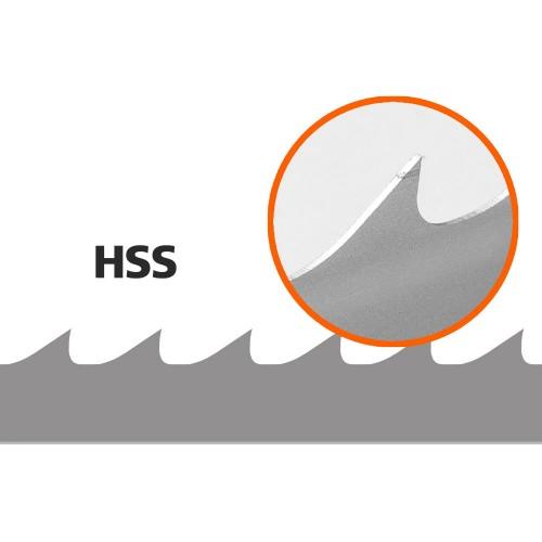 5 Bandsaw Blades (HSS) for Logosol B751, L: 3843 mm, W: 34 mm